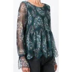 See by Chloe  Paisley Print Scalloped blouse A0024